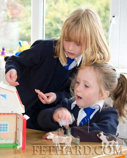 First day at school at Holy Trinity National School L to R: Ciara Donald Besso and Aoibheann Collum