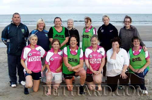 Fethard 'Gaelic4Mothers' team photographed at a training session at Clonea beach with Tom McCarthy.