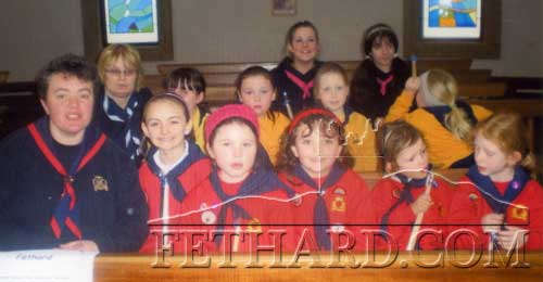 Fethard Girl Guides and leaders  at 'Thinking Day' in Limerick this year