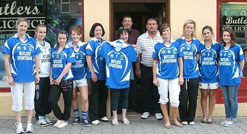 Members of Fethard Ladies Football Club showing off the new club jerseys.