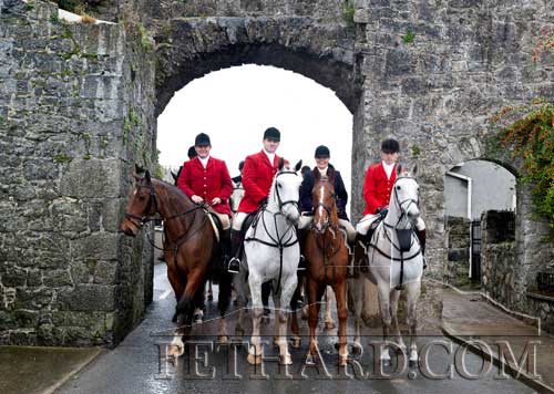 New Masters of Tipperary Foxhounds photographed at the Opening Meet in Fethard on Monday, October 31. L to R: Paul Ronan, Liam Kearney, Marion Goodbody and Tim Hyde