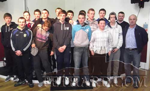 U16 Football Champions of 2011 photographed after the presentation of medals at Fethard Youth Centre