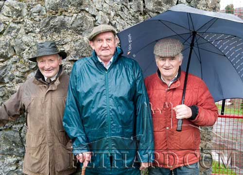 L to R: Tony Purcell, Fergus Donegan, Jimmy O'Shea enjoying the Opening Meet in of the Tipperary Foxhounds in Fethard on Monday 31st October 2011