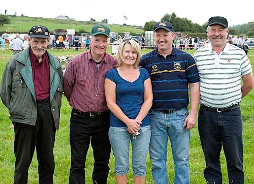 Members of Slievenamon Vintage Club photographed at Moyglass Vintage Day L to R: Seamus Kirwan, Michael O'Brien, Helen O'Brien, Terry O'Brien and Jerry Shelly.