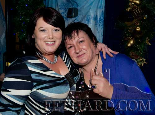 Enjoying New Year's Eve in Lonergans Bar are L to R: Deirdre Phelan and Breda Moloney.