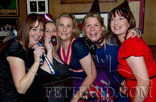 Enjoying New Year's Eve in McCarthys Hotel are L to R: Tracy McLoughlin, Karen Morris,Valerie Hickey, Biddy Purcell and Trish Purcell.