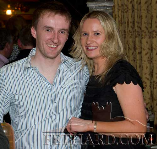 Liam O'Sullivan and Gwen Cooke enjoying New Year's Eve in McCarthys Hotel, Fethard