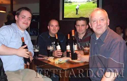 The winning team in the table quiz held in Gaules Pub in aid of the 'Tara Projects' – touching and rebuilding africa. L to R: Joe Purcell, Frances Lonergan, Karl Maher and Noel Maher