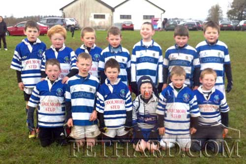 Fethard Under-9 rugby team L to R: Sean Ryan, Sean Ryan, Shane Neville, Aidan Fitzgerald, Aaron Denny, Conor Walsh, Oran Ryan. Front L to R: Eoin O'Dwyer, Michael Scully, T. J Murphy, Oisin Smullen, Toby Collier and Josh Rowan.
