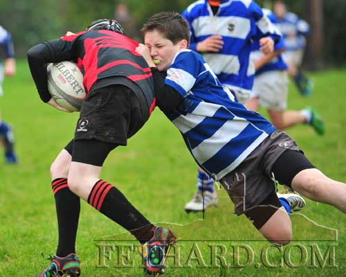 Fethard's Luke Grant makes a vital tackle to help his team secure a comfortable win over Waterpark on Sunday, October 2. Please remember that training has resumed for the new season on Friday nights at the Community Sportsfield, and that memberships need to paid at the Clubhouse.