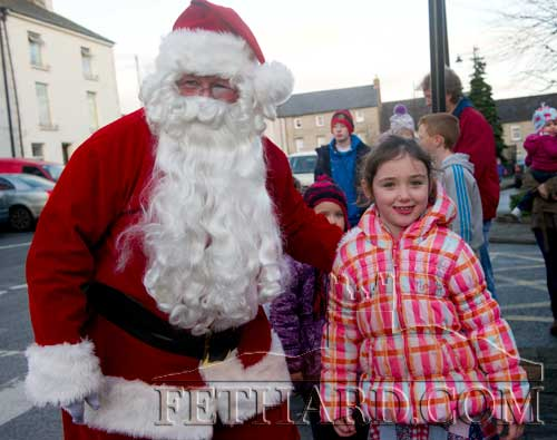 Santa photographed with Charlotte Burgess at the Festive Friday in Fethard