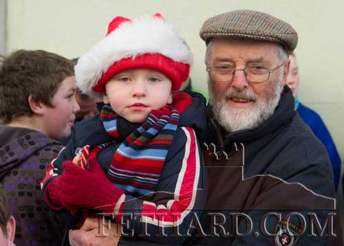 Danny Kane photographed with his grandson, Paddy Ryan, at the Festive Friday held in Fethard