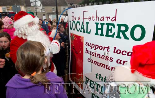 Santa turning on the Christmas lights at the 'Local Hero' Festive Day in Fethard.