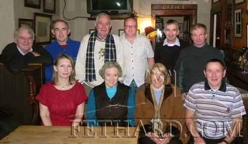 Fethard Tidy Towns members photographed at their Christmas Party Back L to R: Jimmy O'Shea, Tom Tobin, Patrick Burke, Jimmy Smith, Eamon Kennedy, Brian Sheehy. Front L to R: Di Brady, Sr. Marie, Thelma Griffith and Joe Keane.