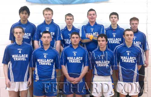 Patrician Presentation Secondary School Senior volleyball team who will play Coláiste Chathail Naofa, Dungarvan, in the All-Ireland Senior B Boys Final on Thuersday, December 8. Back L to R Jaoa Paulo Malheirios, Eoghan Hurley, Ronan Fitzgerald, Cathal Hurley, Niall Doocey, Michael McCarthy. Front L to R: Tony Myler, Andrew Maher, Sean Whyte, Dion Butler (captain) and Gerry Horan.