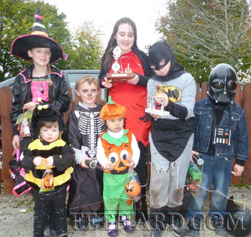 Children who were winners at the Fethard Car Boot Sale annual Halloween Fancy Dress competition