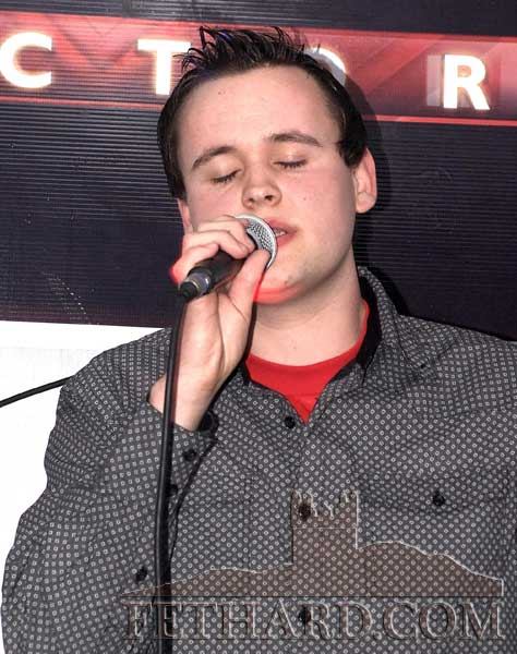 Joseph Thompson who was overall winner in the X-Factor 2011 second round at Lonergan's Bar. (all photographs by Clodagh Blake)
