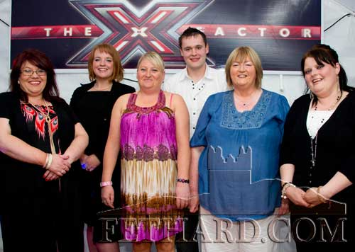 Fethard's X-Factor finalists L to R: Mary Boland, Holly Williamson, Dierdre Dorney, Joe Thompson, Dorlores O'Donnell and Helen O'Brien.