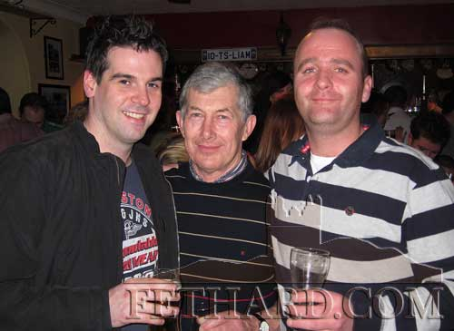 Socialising in Fethard last weekend are L to R: Kevin O'Donnell, Eddie Croke and Val O'Dwyer.