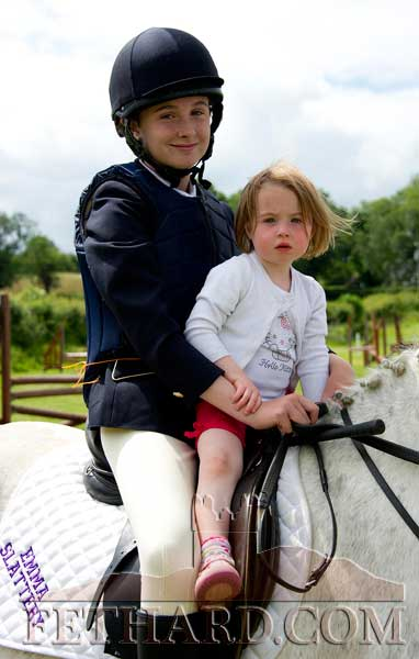 L to R: Emma Slattery and Ava Maher at Killusty Pony Show