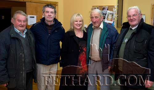 Photographed at the AGM of the Fethard and Moyglass branches of the Labour Party in Fethard last weekend were L to R: Christy Williams, John Hennessy, Senator Phil Prendergast, Alfie Brett and Mick Flynn.