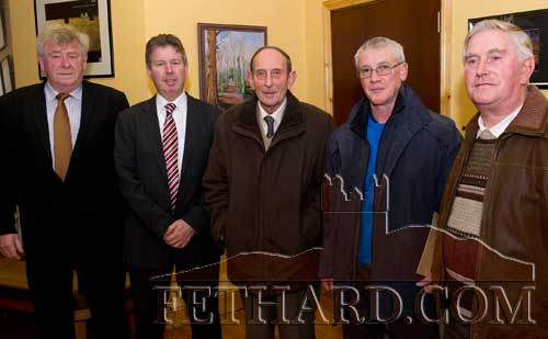 Photographed at the AGM of the Fethard and Moyglass branches of the Labour Party in Fethard last weekend were L to R: Cllr. Seanie Lonergan, Cllr. Denis Landy, Paddy Croke, Michael Cleere and Patsy Casey.