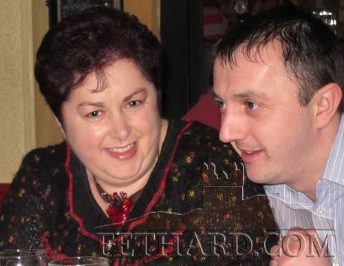 Martina McCarthy and M.J. Croke enjoying the music at Butler's Bar last weekend