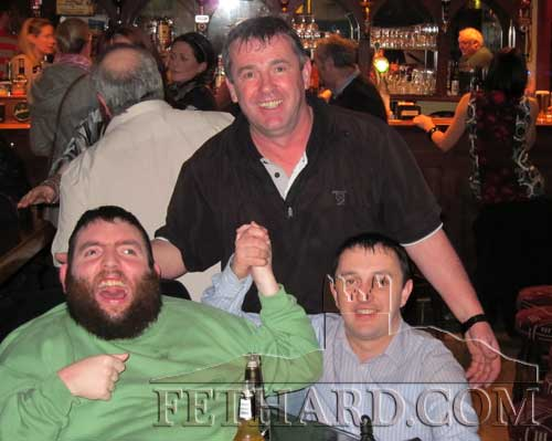 Enjoying the music at Butlers Bar L to R: Jack Kenny, Jimmy McCarthy and M.J. Croke