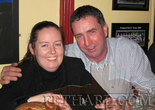 Trish Kelleher and Eddie O'Donnell enjoying the music at Butlers Bar last weekend