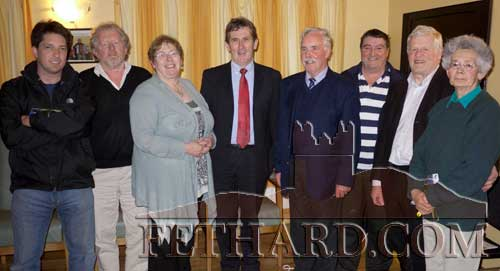 Photographed at the Newfoundland information evening held in the Tirry Centre, Fethard, on Monday night, April 11, are L to R: Vincent Murphy, Terry Cunningham, Margaret Doyle, Eamonn Murphy, Richard Howley, John Roche, Tom Nealon and Marie O'Donnell.