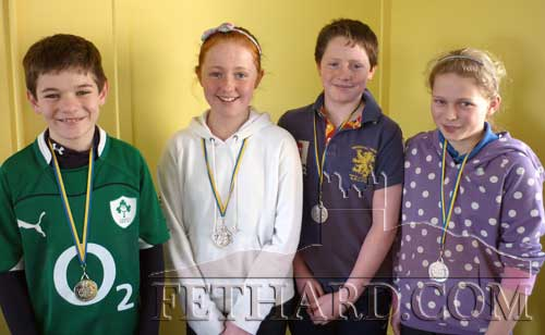 Fethard U14 juvenile Quiz Team, winners of silver medals at the Community Games County Final last week. L to R: Mark Heffernan, Lucy O'Hagen, Jack Dolan and Emma Hatton.