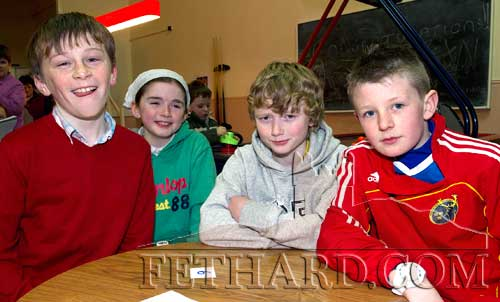 Joint second in the Community Games Area Table Quiz finals at Fethard were the team of L to R: Jack Spillane, Farrah Cummins Doyle, Liam Quigley and Jack Ward.