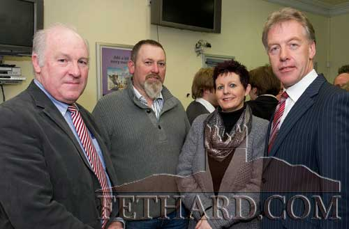 Photographed at the AIB Business Seminar held in Fethard are L to R: John Devane (South Tipperary Development Company), Kevin Bourke, Delores Bourke, Mick Donnelly (Regional Director AIB).
