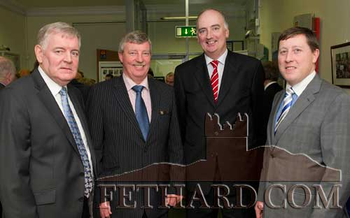 Photographed at the AIB Business Seminar held in Fethard are L to R: Jer Ryan (JRE Electrical Contractors Ltd, Clonmel), Peter Silke (AIB Branch Manager, Fethard and Killenaule), Fergus Moriarty (Senior Manager AIB Business Banking) and Hugh Mansfield (Head AIB Business Banking)