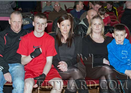 Photographed at the Boxing Tournament at Fethard Ballroom are L to R: William Connolly, Jack Connolly, Dorothy Connolly, Siobhán Curran and Shane Curran
