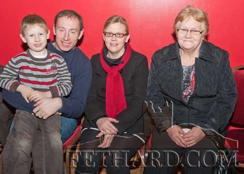 Photographed at the Boxing Tournament at Fethard Ballroom are L to R: Oisín Shelly, Kevin Shelly, Mary Shelly and Kathleen Connolly