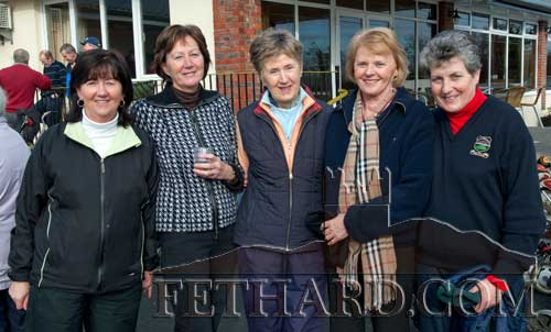 L to R: Pauline Lucey, Mairead O'Donnell, Gabrielle Schofield, Kay Walsh and Kathleen Kelly At the Captains Drive In at Slievenamon Golf Club 13th Feb 2011