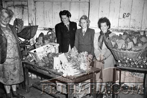 Pictured at one of the first Fethard Country Market stall are L to R: Olivia Hughes, Phyllis O'Connell, Dolly O'Keeffe and Peggy Moore (later Mrs Tierney).