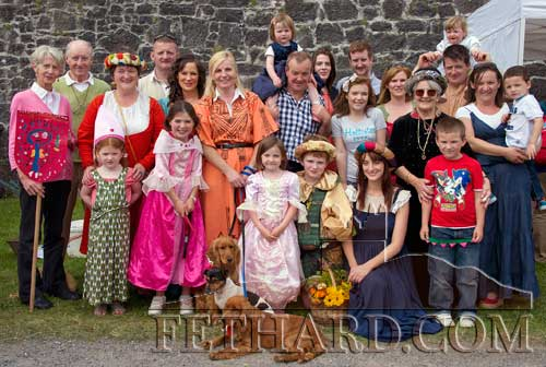 Members of the Hayes family, Rathcoole, photographed by the Town Wall at Fethard Medieval Festival