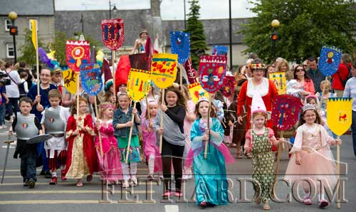 Children in the Fancy Dress Parade at Fethard Medieval Festival