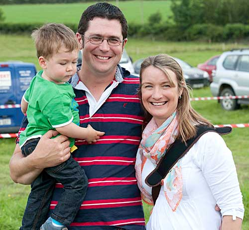Jerome and Helen Skehan with their son Stephen at Moyglass Vintage Day