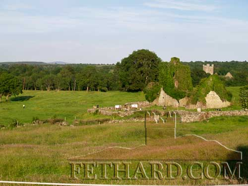 Newtown Jerpoint, a view of St. Nicholas Church with Jerpoint Abbey in the distance. (Photo by Pat Looby)