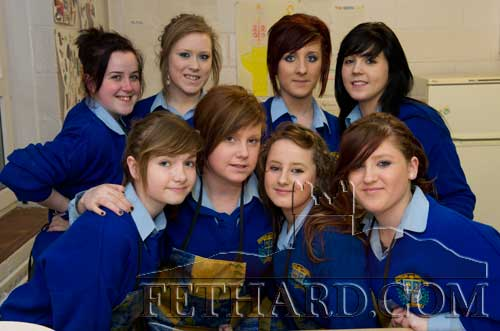 Helping at the Open Evening at Fethard Patrician Presentation Secondary School are Back L to R: Anastasia Blake, Rachael O'Meara, Gráinne Fanning, Christine Fitzgerald. Front L to R: Clodagh Bradshaw, Kayleigh Higgins, Kelly Keating and Shannon Dorney