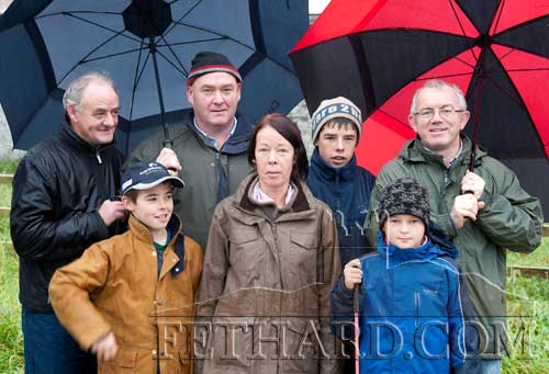 At the opening meet in Fethard were: Back L to R: Noel Coffey, Tommy Slattery, Cillian Slattery, Peter Hogan. Front L to R: Cathal Slattery, Fiona Slattery and Carol Hogan