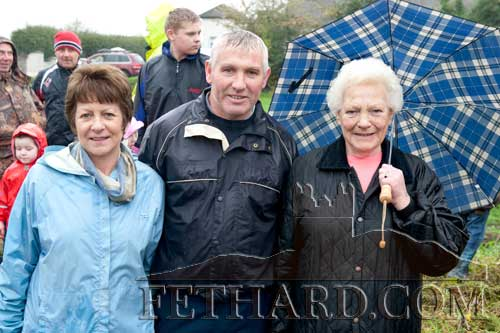 At the opening meet in Fethard were L to R: Helen Carroll, Willie Gleeson and Peg Gleeson