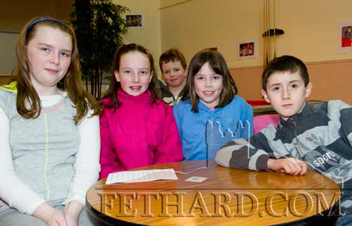 Killusty team taking part in the Community Games Area Table Quiz finals at Fethard were L to R: Chelsey Kenny, Sarah O'Donnell, Laura O'Donnell and Ben Coen.