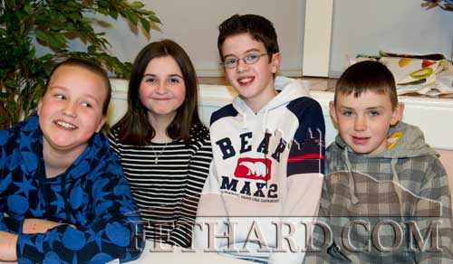 Taking part in the Community Games Area Table Quiz finals at Fethard were L to R: Amye O'Donovan, Amy Cowlard, Dylan Lyons and Shane Curran.