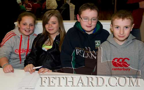 Taking part in the Community Games Area Table Quiz finals at Fethard were L to R: Aoife Sheehan, Becky Kenny, Jack Pollard and Luke Coen.