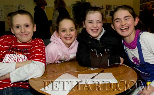 Taking part in the Community Games Area Table Quiz finals at Fethard were L to R: Eric Fogarty, Laura Butler, Erica McGrath and Carly Tobin