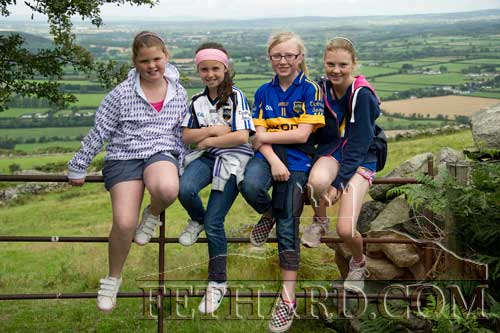 Waiting to start the pilgrimage to Holy Year Cross are L to R: Caoimhe O'Meara, Leah Coen, Megan Coen and Molly O'Meara.